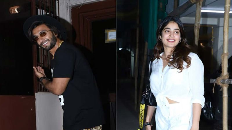 Airport Spotting: Ranveer Singh And Janhvi Kapoor Are All About Flower Power, Don't Miss Ranveer's Unconventional Pair Of Sunnies