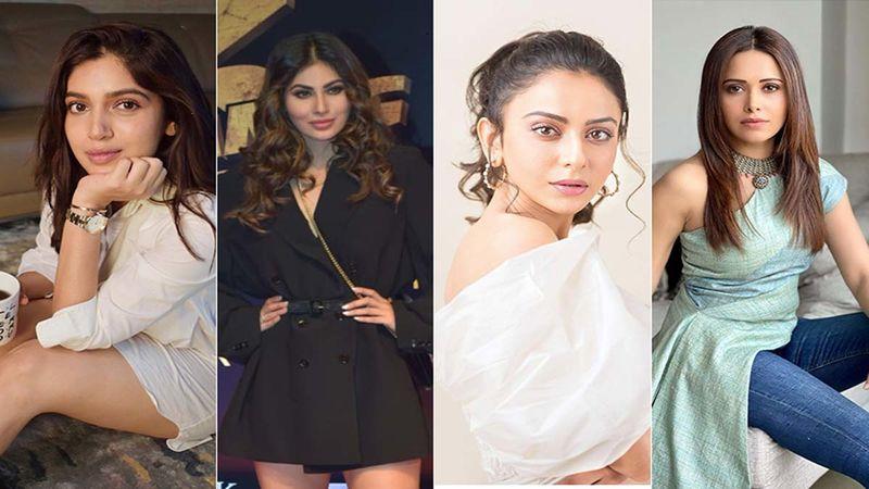 Stars' Zoom Call Look: Check Out How Bhumi Pednekar, Mouni Roy, Rakul Preet Singh, Nushrratt Bharuccha Rocked The Video Call Look With Aplomb