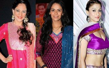 Rakshanda, Mona, Shilpa Do Garba During Ganesh Maha Aarti
