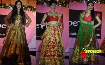 Television beauties walk the ramp for a cause