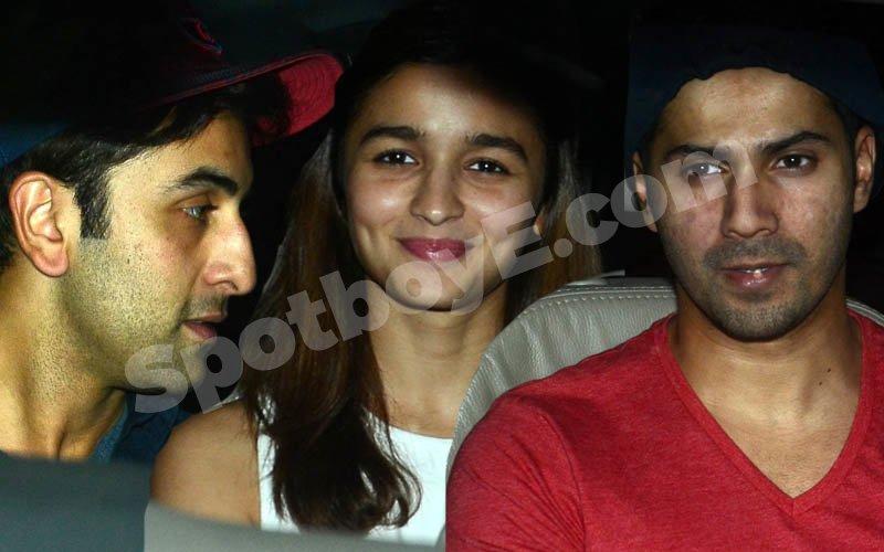 VIDEO: Varun, Alia & Ranbir's date night!