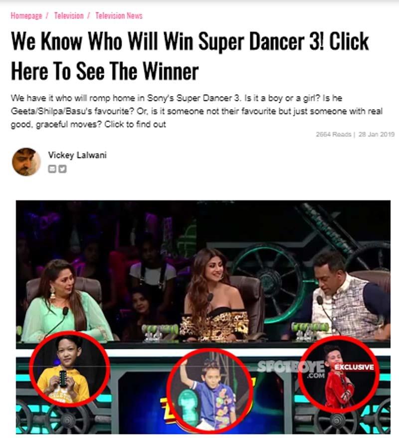 Shilpa Shetty, Geeta Kapoor, Anurag Basu- Children In Danger