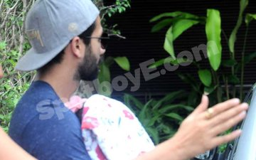 FIRST PICTURES: Shahid Kapoor Takes His Li'l Girl Home