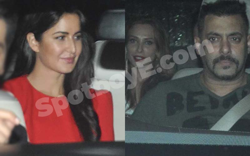 Salman's ex-flame Katrina meets his steady date Iulia at Sultan screening
