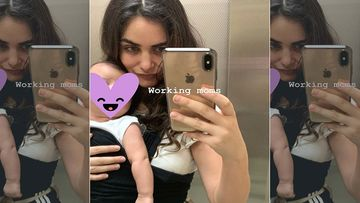 Arjun Rampal's Girlfriend Gabriella Demetriades' Work Mode On, Shares A 'Working Moms' Selfie With Son Arik