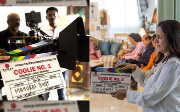 Coolie No 1: Varun Dhawan And Sara Ali Khan's Film Gets The Mahurat Clap From Varun's Mother, Karuna Dhawan