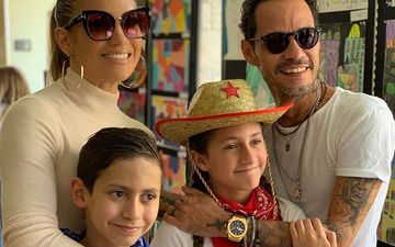Ex-Couple Jennifer Lopez And Marc Anthony Attend Daughter's Cross-Country Meet With Their Respective Partners
