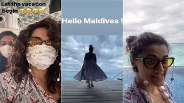 Taapsee Pannu Jets Off To Maldives For A Vacation With Her Sisters, Her INSTA Stories Are A Blast Of Bliss