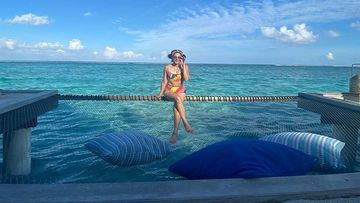 Taapsee Pannu Is A Vision In An Electric Bikini As She Poses Amid Cool Blue Maldivian Waters