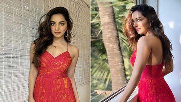 Kiara Advani Goes Mega Bold In A Layered Red Spaghetti Dress As She Promotes Indoo Ki Jawani
