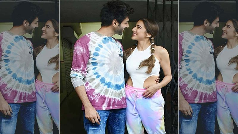 Kartik Aaryan Wears A Mask, Sara Ali Khan Partially Covers Her Face At Ahmedabad Airport- PIC Inside