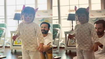 Kareena Kapoor Khan's Personal 'Easter Bunnies' Saif Ali Khan And Taimur Are A Treat For Sore 'Locked Down' Eyes