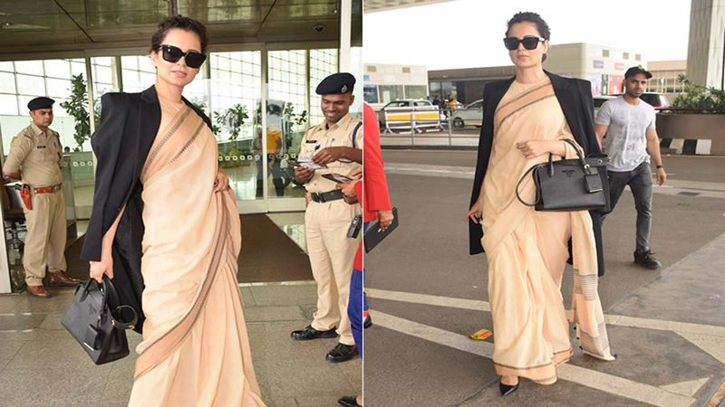 Kangana Ranaut Exudes Boss Lady Vibes Even In 600 Rupees Saree, Check It Out