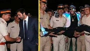 Ranbir Kapoor Is Chivalrous, Ranveer Singh Is Wacky As Both Show Different Ways Of Greeting Mumbai Police; Sparks Debate Between Their Fans