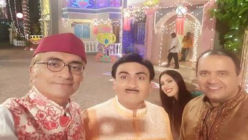 TMKOC: Munmun Dutta AKA Babita Photobombs Mandar Chandwadkar AKA Bhide's Selfie