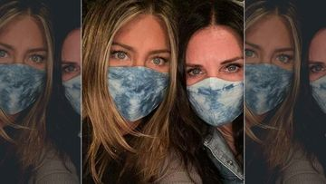 After Her Christmas Tree Ornament Controversy, Jennifer Aniston Shares A Selfie With BFF Courteney Cox Urging People To Wear Mask