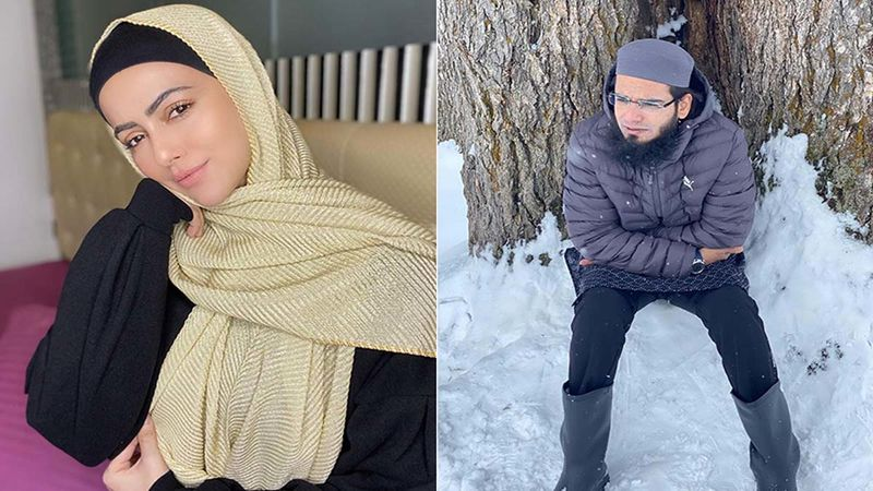 Sana Khan Shares A Bunch Of Unseen Pictures As She Makes A Husband Appreciation Post; Credits Anas Saiyad For Encouraging Her To Perform Good Deeds