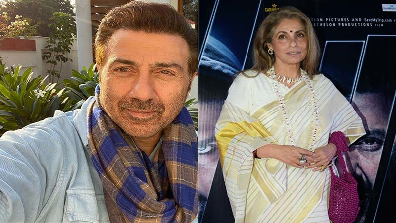 Sunny Deol And Dimple Kapadia Make Heads Turn As They Arrive At Karim Morani's Birthday Bash