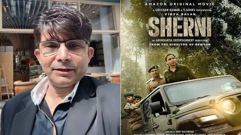 Kamaal R Khan Skips Reviewing Vidya Balan's Sherni, Calls It A 'Small Film', Leaves Actress' Fans Angry