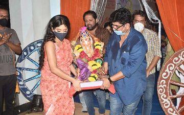 Yeh Rishta Kya Kehlata Hai Ganpati Visarjan: Shivangi Joshi And Producer Rajan Shahi Bid Farewell To Bappa; Pictures HERE