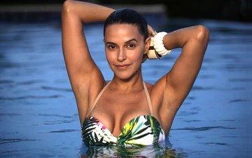 Neha Dhupia challenges trolls with her bikini selfie