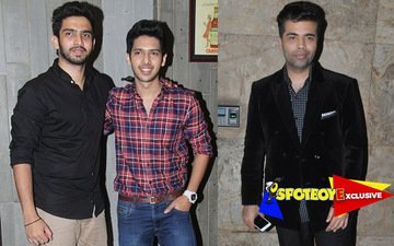 Malik Bros sing together for Karan Johar