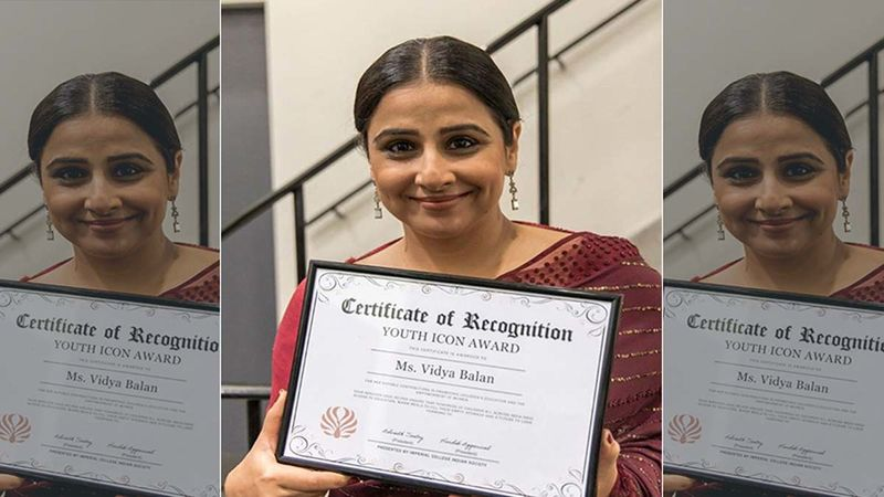 Vidya Balan Gets The Youth Icon Award By The Imperial College And It Is A Special One; Find Out Why