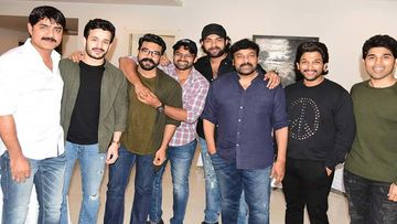 Allu Arjun And Allu Aravind Celebrate The Success Of Chiranjeevi's Sye Raa Narasimha Reddy- Pics