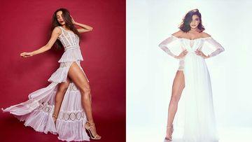 Who's Hotter? Anushka Sharma And Malaika Arora's Sexy White Thigh-High-Slit Numbers Are Same Same