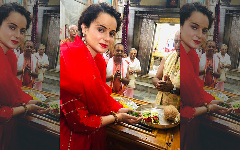 Kangana Ranaut Seeks Blessings Of Lord Krishna Before She Kick Starts Thalaivi