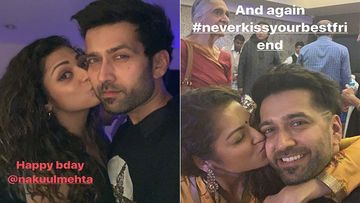Birthday Boy Nakuul Mehta Gets A Sweet Kiss From Good Friend Drashti Dhami; Makes Us Laugh Hard With B'Day Post