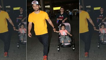 Kunal Kemmu And Soha Ali Khan Along With Tiny Tot Inaaya Naumi Kemmu Are Back In The Bay - Video