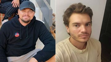 Once Upon A Time In Hollywood Pals Leonardo Dicaprio And Emile Hirsch Chill On A Beach In Malibu On The Titanic Star's Birthday