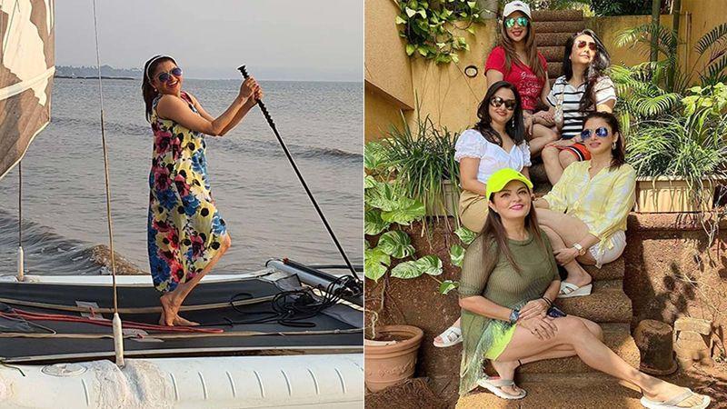 Salman Khan's Maine Pyar Kiya Co-Star Bhagyashree Has A Blast In Goa With Her Gal Pals Sheeba Akashdeep Sabir, Minakshi Chaudhri And Sonia Desaii