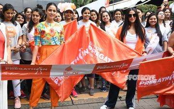 Mommies Mira Rajput And Neha Dhupia Flag Off The First Edition Of Pregathon; Look Stunning In Orange