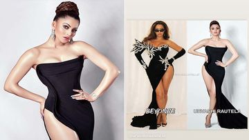 Urvashi Rautela Compares Her Controversial Side-Slit Gown To Beyonce's; Same? Nah, We Don't Think So