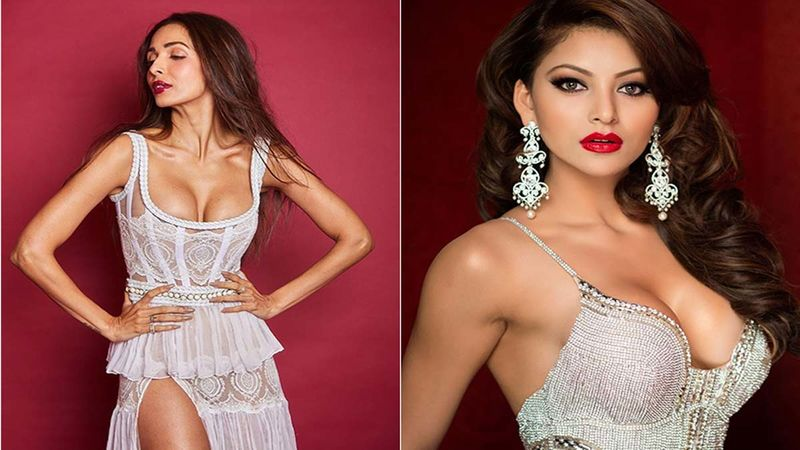 Malaika Arora And Urvashi Rautela Sport Sexy Gowns With Dramatic Necklines; Who Wore It Better?