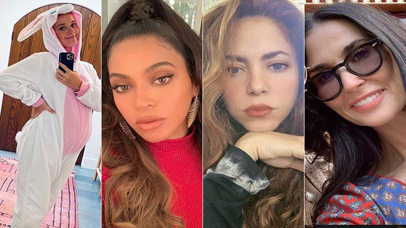 Not Just Katy Perry But Beyonce, Shakira, Demi Moore And More Went Nude To Flaunt Their Baby Bump