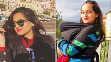 Singer Shweta Pandit Refuses To Share A Glimpse Of Her Adorbs Baby Girl, Runs Away From Camera- Video Inside