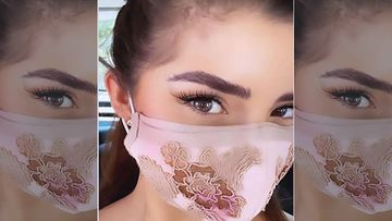 Bikini Supermodel Demi Rose Sports A Designer Mask As She Goes Out And About In The City