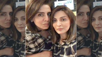 Rishi Kapoor's Girls Riddhima Kapoor Sahni And Neetu Kapoor Twin In Black-And-White Checkered Shirts; Look Adorable