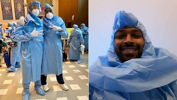 IPL 2020: Hardik And Krunal Pandya Drop Pictures Wearing PPE Suits At The Airport; Krunal Says, 'Getting Used To Our New Travel Kit'