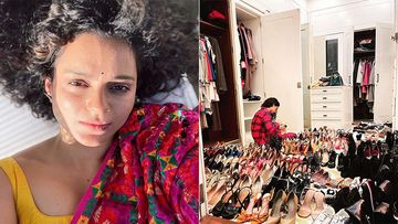 Kangana Ranaut Gives Her Fans A Glimpse Of Her Shoe Closet, Can You Count The Crazy Number Of Heels She Owns?