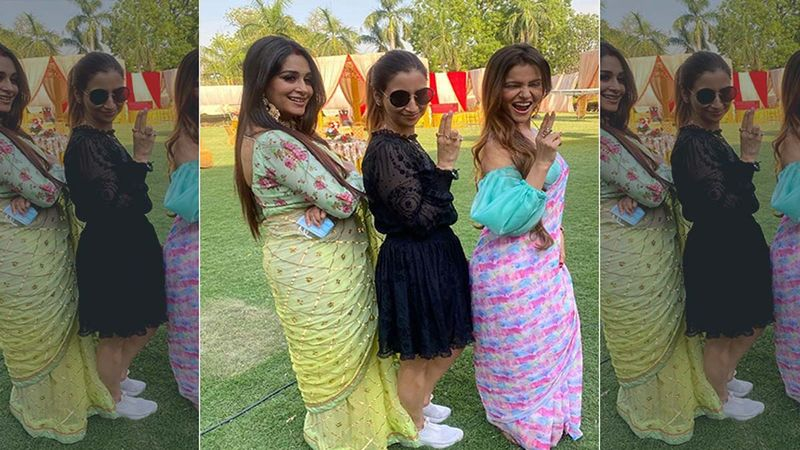 Rubina Dilaik And Dipika Kakar Pose Like Boss Ladies In Latest Pic; Former Bigg Boss Winners Look Cheerful As They Have Some Fun On The Set