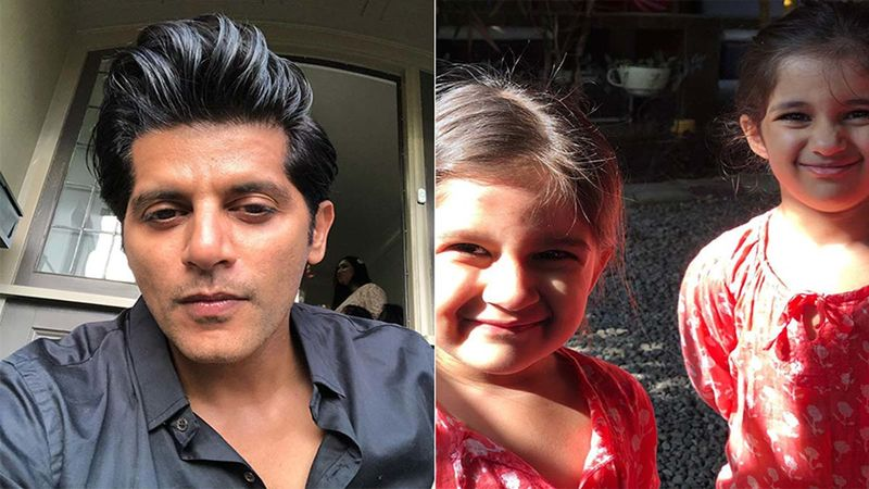 Karanvir Bohra's Daughter Ray Bella Bohra Asks Him To Apologize For Licking Vienna's Spoon; Actor Says, 'They Are Four Going On Fourteen'