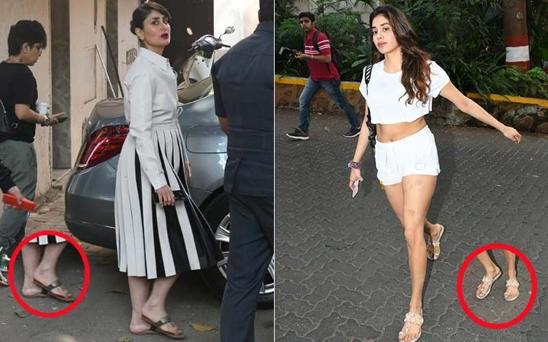 Kareena Kapoor Khan And Janhvi Kapoor Give A Traditional Twist To Their Western Wear - PICS