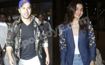 Varun Dhawan and Alia Bhatt Return To Mumbai