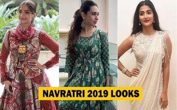5 Bollywood Celebrity Looks You Can Recreate This Navratri 2019: Sonam Kapoor's All Desi Style, Karisma Kapoor's Elegance, Pooja Hegde's Quirk And Many More