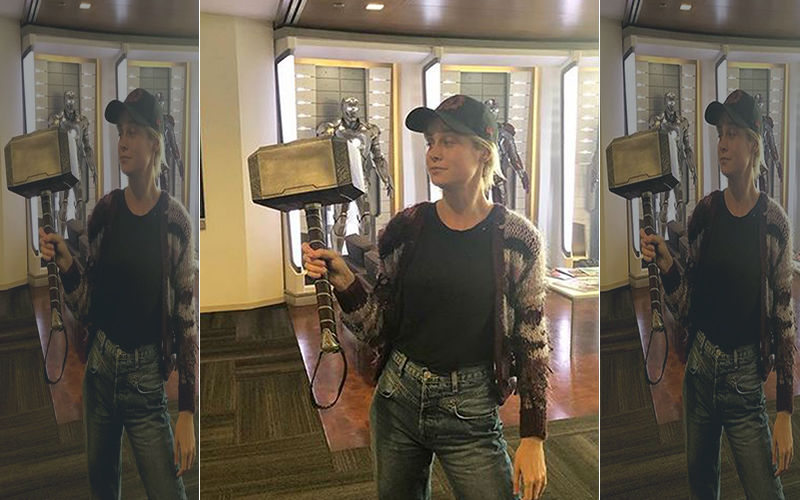 Avengers: Endgame Star Brie Larson Aka Captain Marvel Finally Picks Up The Hammer; Thor Are You Watching This?