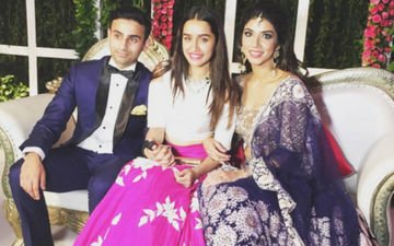 Shraddha Kapoor looks pretty in pink at her bestie's engagement